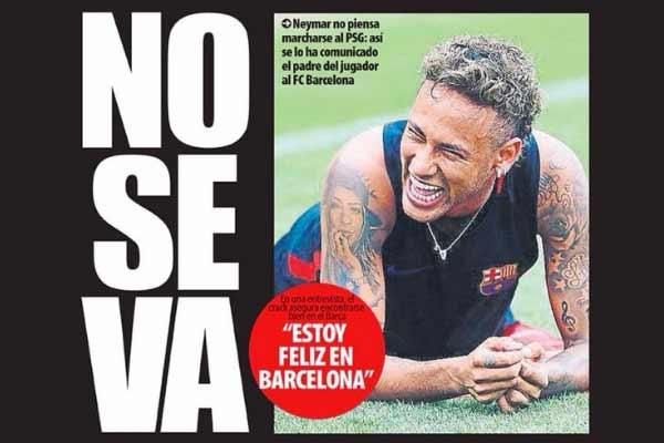 Neymar no se va