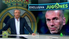 Josep Pedrerol y Zidane