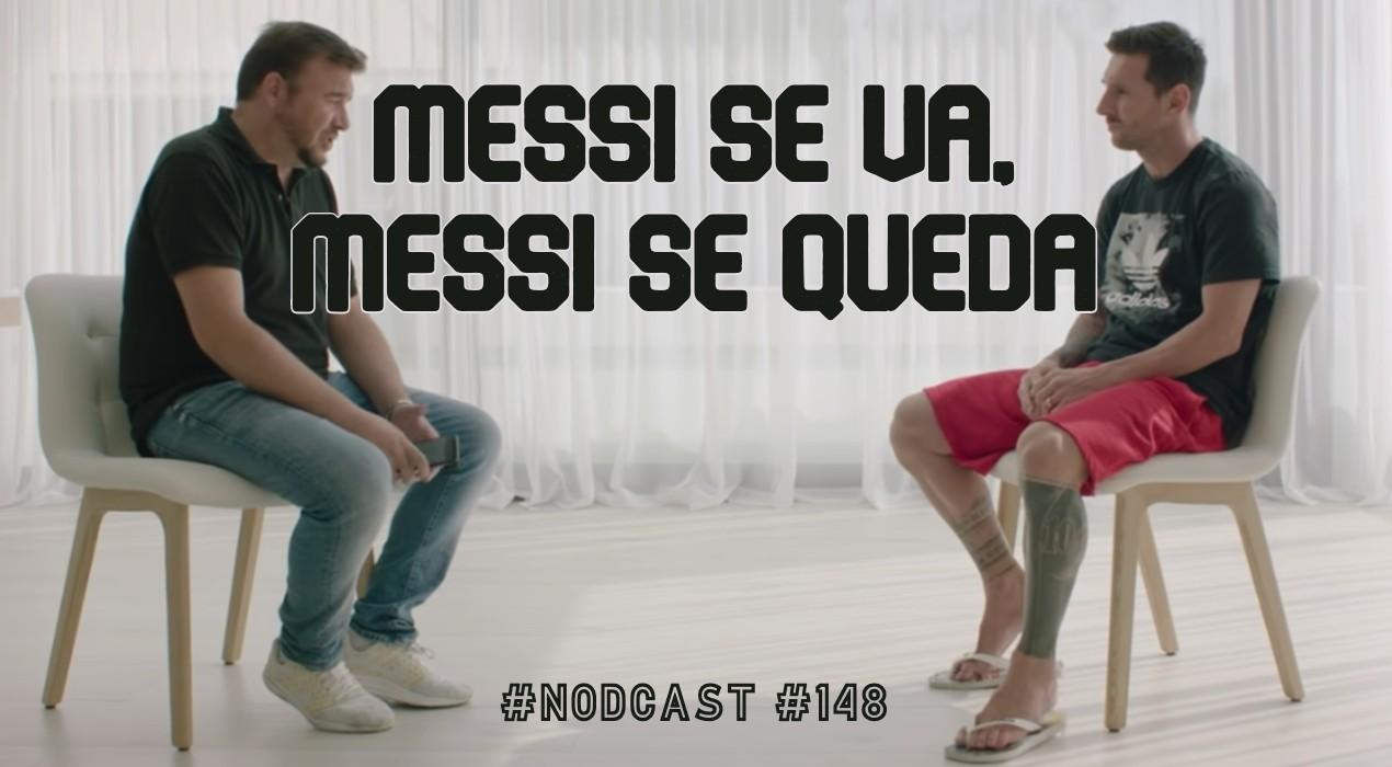 Rubén Uría y Leo Messi